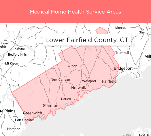 Medical Home Health Service Areas